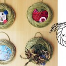 コンテンポラリージュエリー作家に学ぶ、藁細工 ~刈りたての芝草でつくる アートフレーム~