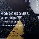 MONOCHROMES: 安齊重男・福岡道雄・松谷武判 展