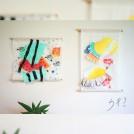 ファブリック絵日記 ~親子で染めて縫う夏の思い出~