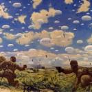 鶴田吾郎《神兵 パレンバンに降下す》1942 年 東京国立近代美術館(無期限貸与)