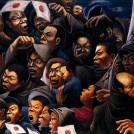 阿部合成《見送る人々》1938 年 兵庫県立美術館